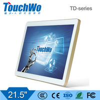 21.5 inch white-gold capacitive touchscreen/monitor with fast response speed