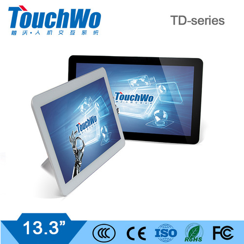 "13.3"" capacitive touch monitor/computer multi points touch support with fast response speed"